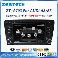 ZESTECH car gps navigation 2 din TV/Dvd player/bluetooth/GPS/Radio for Audi A3 car gps