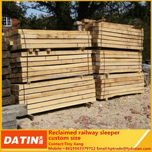 reclaimed wooden railway sleeper for garden decoration and building construction