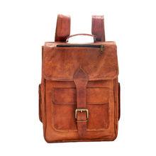 Opule Unisex Vintage Leather Backpack
