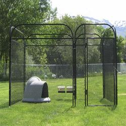 iron fence dog kennel outdoor dog cage wholesale dog kennel
