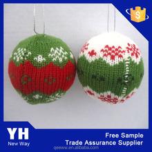 Xmas decoration custom acrylic jaquard chirstmas ball
