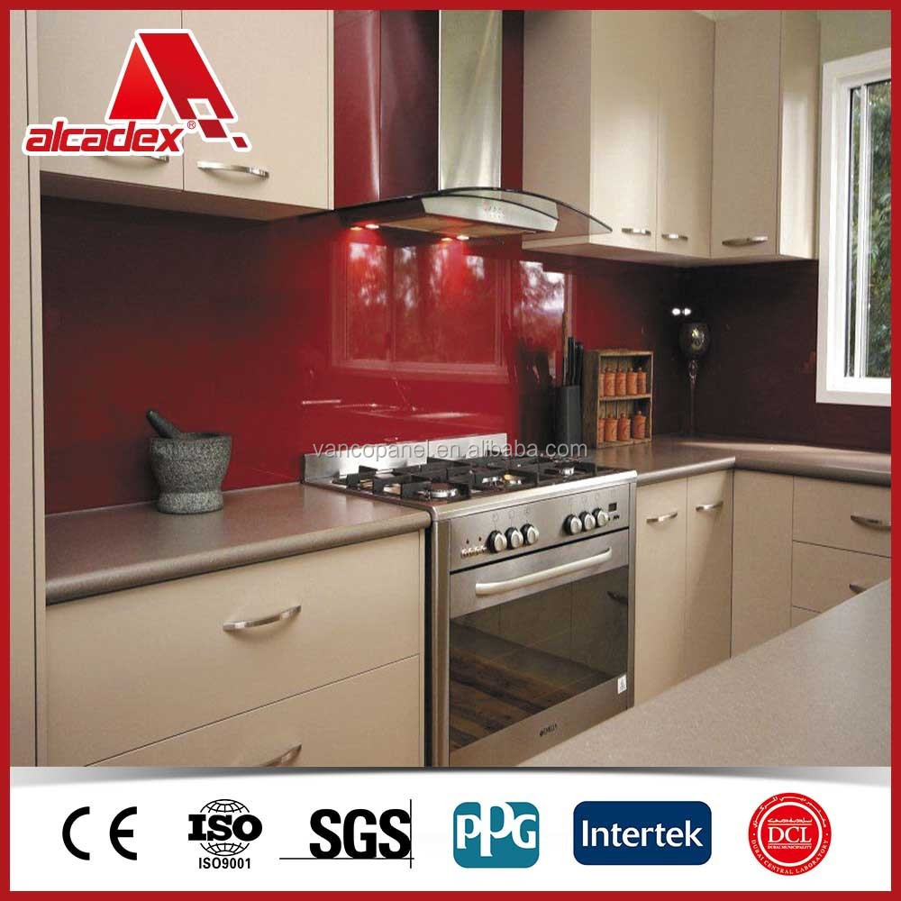 aluminium composite panel for kitchen cabinets design
