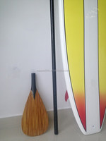 2015 Round Paddle Shaft Sup Carbon fiber Paddle Stand Paddle Wood Surface