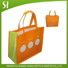 color printing recyclable pp laminated non woven shopping bag
