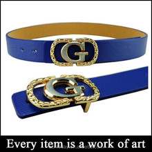 Hot sell men and women general g letters smooth buckle fashion belts