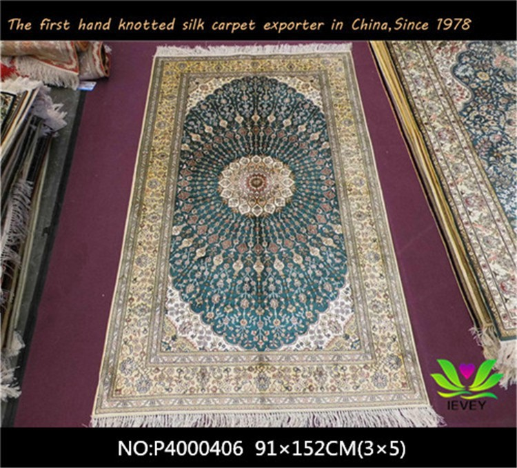 Hot sale handmade silk rugs and carpets fashion design for Floral pattern wall to wall carpet