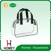 Homey Customized Promotional Transparent Pvc Packing Bag With Zipper For Cosmetic