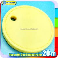 White PVC RFID smart tag / RFID token tag / RFID coin tag