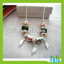 2012 new design european handmade pig murano necklace lowest price hot selling SPN006
