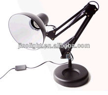 Cheap and good black metal led study foldable table lamp office desk lamp