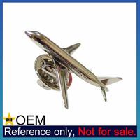 High Qaulity Custom Made 3D Metal Mens Airplane Lapel Pin