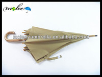 Top Quality Straight Umbrella with Wooden Shaft