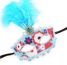 Cheap Feather Masquerade Party Mask Face Mask For Birthday Party