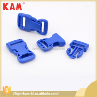 Blue custom plastic side release adjustable strap buckle