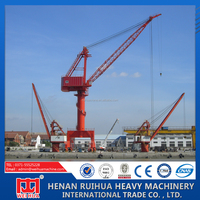 25 Ton slewing jib portal crane for shipyards/port crane for container lift