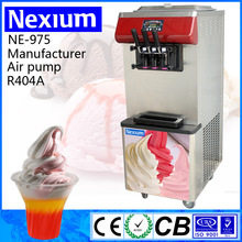 Easy Operation Simple Control Imported Compressor Soft Ice Cream Machine