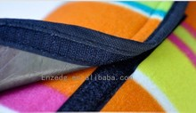 High quality best selling outdoor picnic mat/Straw Ground Mat, picnic blanket foldable to picnic bag ,Blue strap