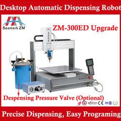 SMT glue dispenser machine ZM-300ED equiped with Pressure barrel