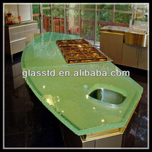 Contemporary glass kitchen countertops home depot