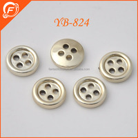 abs plastic gold four hole shirt button for garments