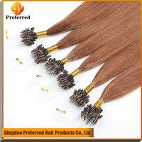 Premium 33# 7A grade Peruvian pre-bonded human hair micro loop hair extension
