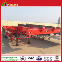 High quality Skeleton truck semi-trailer,container carrier semitrailer for sale
