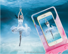 5.5 inch general PVC waterproof phone pouch Drift diving swimming mobile phone waterproof bag