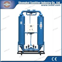 Heatless purge desiccant air dryer for belt driven air compressor