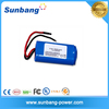 CE FCC MSDS approved 2000mah 7.4v lithium battery /li ion battery 18650 7.4v 3000mah for LED light /electric equipment