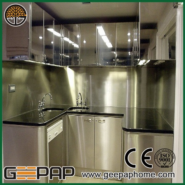 Modern Design Kitchen Cabinet Stainless Steel Wire Mesh Kitchen