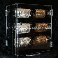acrylic jewelry display case/rotating acrylic jewelry display stand