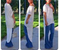 Fashion O Neck Women Tails Dress White Casual Party Dress