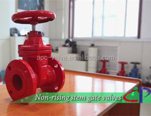 DN50-300 FM UL fire protection 200PSI NRS Flanged gate valve with wheel