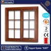 side hinged hollow glass double glazed aluminum windows drawing