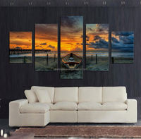 5 Pcs Large HD Seaview With ShipTop-rated Canvas Print Painting for Living Room Wall Art Picture Gift Decoration Home Picture