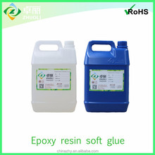 Epoxy resin soft glue for advertisment