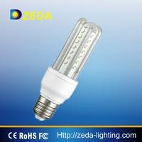 2015 bright 3U tube 9W 12W clear glass led bulb light