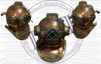 Diving helmet, Antique diving helmets, Brass dive helmet