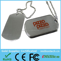 Military Stainless steel Dog Tag USB Stick, Available 1GB/2GB/4GB/8GB/16GB/32GB/64GB, Dog Tag USB with key chain
