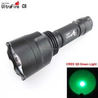 UltraFire C8 1xCREE Q5 Green Light LED Flashlight (1x18650)