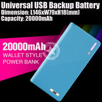 20000mAh Backup Extra Power for Samsung /LG /Nokia /HTC /MP3 /MP4 Made in China