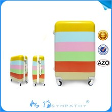 Fashion Design and Colorful Transparent Clear Super Light Four Wheels 100% Pure PC Trolley Luggage