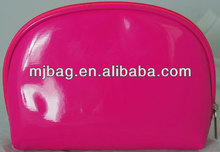 Shiny Pink Vinyl promotional cosmetic bag for women
