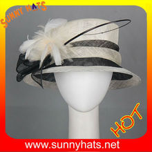 Ivoyblack sinamay lady hats for wedding and party