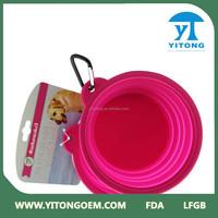 2015 Cheap Wholesale Nontoxic purple Portable Folding Silicone Dog Bowl