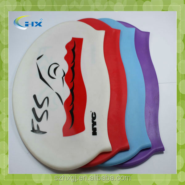 G-2015 Customized Wholesale Silicone Swimming Cap