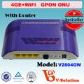 Equipo de red inalambrica WiFi ONU FTTH con 4ge puertos