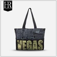 HenRon2 Welcome OEM ODM New fashion black tote bag canvas