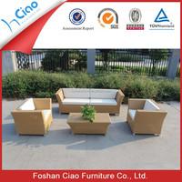 Long lasting outdoor Patio garden furniture aluminium PE rattan wicker sofa