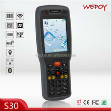IP65 big screen Wifi 3G WinCE qr code 1m middle range rfid reader